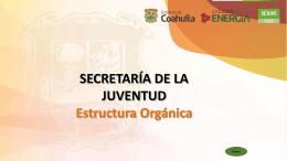 SECRETARIA DE LA JUVENTUD Coordinación Administrativa