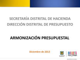 Diapositiva 1 - Secretaría de Hacienda Distrital