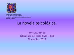 La novela psicológica.