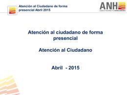 Visitas Presenciales PQRS - Abril 2015