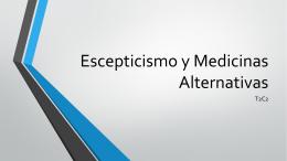 Escepticismo y Medicinas Alternativas PPP