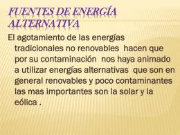 fuentes de energía alternativa - LUIS