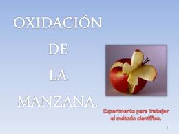oxidacion de la manzana