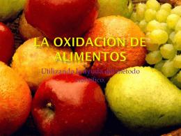 La Oxidación de las frutas