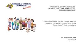 Gestión de la Salud Colectiva: Enfoque familiar y comunitario