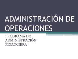 Diapositivas docente Admon. de Operaciones
