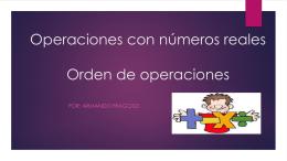 Operaciones con números reales 2