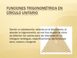 Funciones Trigonométrica en Círculo Unitario