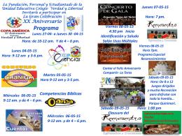Invitado Especial - Colegio Verdad y Libertad