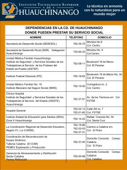 Dependencias en Huauchinango para hacer Servicio Social.