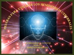 pruebas para utilizar los hemisferios cerebrales