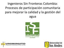 Ingenieros Sin Fronteras Colombia: Procesos de Participación