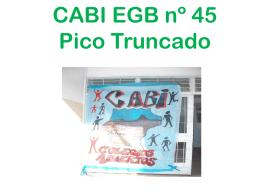 CABI EGB nº 45 Pico Truncado