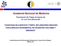 Dr. Luis Torre Bouscoulet - Academia Nacional de Medicina