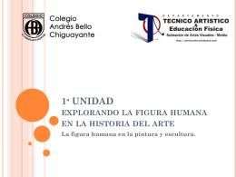 figura humana en la historia del arte - Artes Visuales