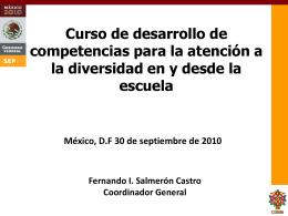 Presentación: Curso de desarrollo de competencias para la