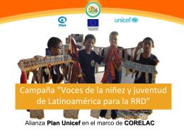 Campaña *Voces de la niñez y juventud para la RRD en