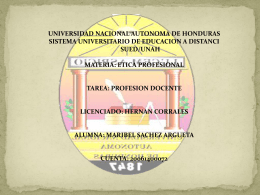 etica profesional (profesion docente)