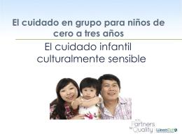 ¿Qué hace el cuidado infantil culturalmente sensible?