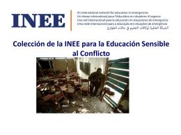 ¿Qué es la Educación Sensible al Conflicto?