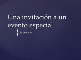 Una invitación a un evento especial