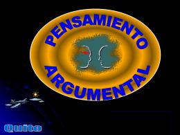 Pensamiento Argumental