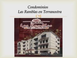 Disponibilidad departamentos Las Ramblas