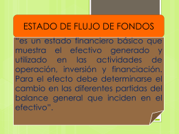 ESTADO DE FLUJO DE FONDOS