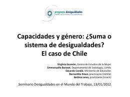 Capacidades y género: ¿Suma o sistema de desigualdades? El