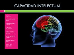 Capacidad intelectual