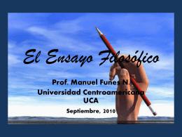 El Ensayo Filosófico - Universidad Centroamericana