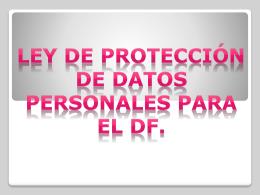 PRES_DATOS_PERSO - Instituto de Acceso a la Información