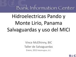 Hidroeléctricas Pando y Monte Lirio, Panamá