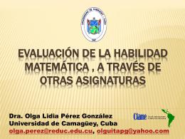Evaluation de la Habilidades Matemática