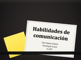 Habilidades de comunicación – abril 2014