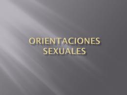 Orientaciones Sexuales