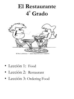 """(""""El Restaurante"""")."""