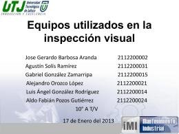 Equipos utilizados en la inspección visual