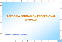 CEP proyecto asesoría Formación Profesional
