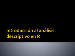 Introduccion al analisis descriptivo en R (2011)