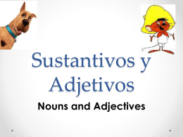 1 Nouns, Adjectives & Articles