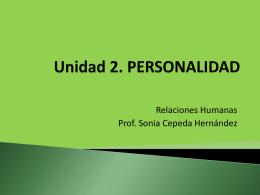 personalidad - Huertas College Departamento Educación General