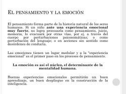 El pensamiento y la emoción