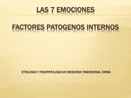 factores patogenos internos. emociones