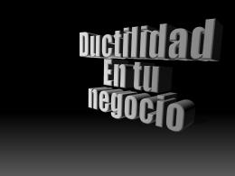 Ductilidad - Area Natividad