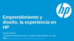 Emprendimiento y diseño, la experiencia en HP