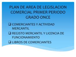 plan de area de legislacion comercial primer periodo grado once