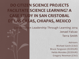 Do Citizen Science Projects Facilitate Science Learning? A Case