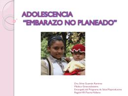 Adolescencia en el embarazo no planeado
