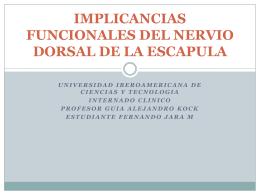 IMPLICANCIAS FUNCIONALES DEL NERVIO DORSAL DE